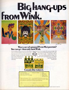 Wink - Canada Dry - Peter Max - 1968