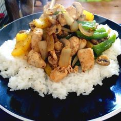 Syn free salt & pepper chicken recipe - I added 1-2 tbsp soy sauce and reduced chilli flakes to 1/2 tbsp and served mixed together with noodles.