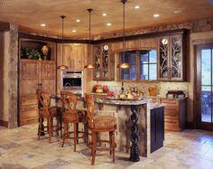 Rustic Kitchen Design Eas Snnug Rustic Kitchen Small Kitchen Design Stainless Steel Kitchen Design Kitchen Images Rustic Kitchen Natural Stoon Floor Tiny Pendant Lamp Mahogany Wooden Kitchen Cabinet