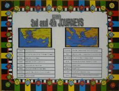 Paul's Journeys | Bible Songs And More Lots of lesson plans!