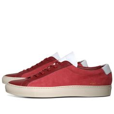 Achilles Vintage Suede Red Pannelled Leather White Not a new design but new style mixing suede and leather.