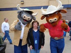 """After being with Palm Harbor for 10 years, Shawna Grubbs just relocated to Palm Harbor Homes in Azle, Texas, in time to get a real """"NO BULL"""" Texas welcome from the friendly folks at the Ft. Worth Stock Show and Rodeo!"""