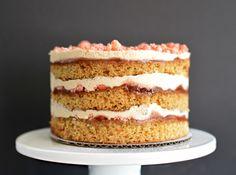 a momofuku-inspired peanut butter & jelly birthday cake