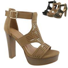0f7bf4771 New Women Gladiator Platform Sandals Chunky High Heel Open Toe Dress Shoes  #Unbranded #Platform