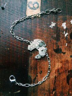 Handmade one of a kind watch plate bracelet. by L2CreationsJewelry