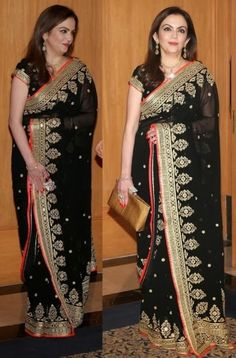Nita Ambani #replica #saree in georgette shop online with #craftshopsindia