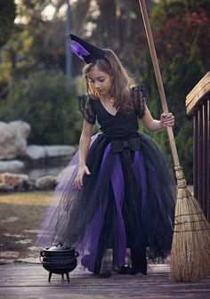 Black And Purple Witch Costume Tutu Dress Set, Wicked, Halloween, Girl Witch Tutu Costume, Girl Hall Little Girl Witch Costume, Toddler Witch Costumes, Witch Tutu Costume, Witches Costumes For Women, Witch Dress, Tutu Costumes, Halloween Costumes For Girls, Halloween Kids, Halloween Recipe