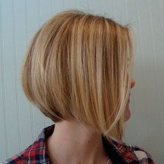 Stacked Haircut Side View