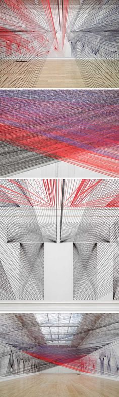 Pae White: Typography Yarn Installation |