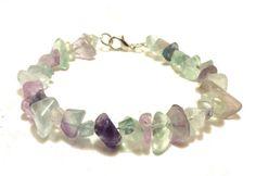Rainbow Fluorite Bracelet Beaded Bracelet by ShamisesBlissful