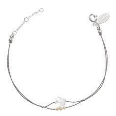 Buy Ju Ju Double String Bird and Pearl Bracelet from Oliver Bonas