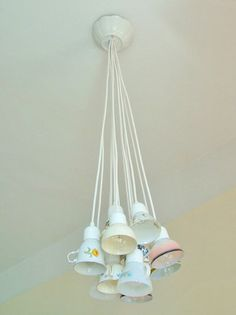 Teacup, coffeecup, DIY, lamp,