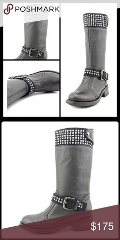 🆕 STUDDED ROCKER BOOTS Bring out your inner rock star in edgy studded motorcycle boots. -Leather -Suede trim