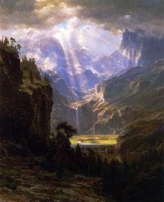 The Athenaeum - Rock Mountains (Albert Bierstadt - )