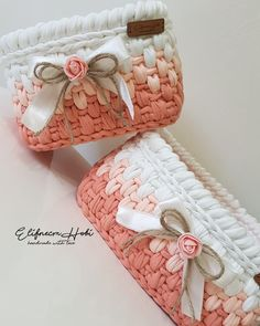 7 and one half inch ooak crochet bassinet for a girl or boy doll Crochet Bowl, Crochet Basket Pattern, Knit Basket, Crochet Art, Crochet Gifts, Free Crochet, Crochet Patterns, Hand Crochet, Crochet Patron