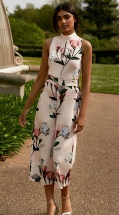 667203b5bec Stand out with your race day outfit wearing this stylish floral jumpsuit...  Race