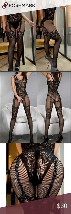 20% OFF VALENTINE'S SALE Open Crotch Body Stocking 🔴20% OFF VALENTINE'S SALE  🔴Prices will reset on February 15th 🔴Guaranteed delivery by February 14th  if ordered before February 7th.  Sexy Open Crotch Body Stocking   One Size: (Fits Small to Large best)  Color: Black  Tags: LINGERIE UNDERWEAR FISHNET PANTYHOSE SLEEPWEAR PAJAMA  Item # A10 unbranded Intimates & Sleepwear
