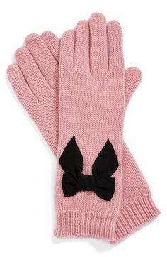 pretty pink bow gloves