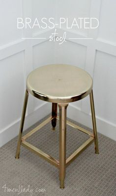 Awesome  Crafts for Men and Manly DIY Project Ideas Guys Love - Fun Gifts, Manly Decor, Games and Gear. Tutorials for Creative Projects to Make This Weekend | Brass Plated Stool  |  http://diyjoy.com/diy-projects-for-men-crafts