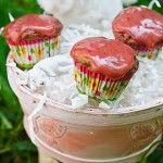 """Strawberry Mini Muffins -- """"Sinlessly Delicious,"""" fat free, vegan & low-sugar!  :)"""