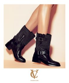 via Vince Camuto - http://www.vincecamuto.com/vc-signature/    #motorcycle #motoboot #leather