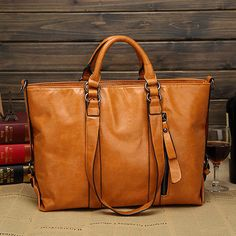 Women Fashion Minimalist Handbag Leisure Business Shoulder Bag Tote Bag - US$34.99