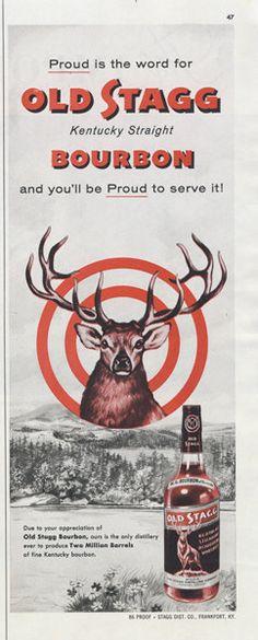 1955 Kentucky Straight Bourbon Whiskey Mid Century by AdVintageCom