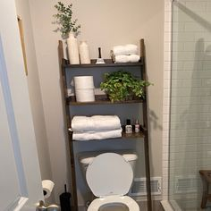 This listing is for an over-the-toilet ladder shelf. Its a great space saver. We do have some Dark Walnut stained ladder shelves that ship within 1 business day that you can view here: Over The Toilet Ladder, Over Toilet, Bathroom Shelf Decor, Bathroom Interior, Bathroom Ideas, Bath Ideas, Small Bathroom, Diy Ideas, Bathrooms