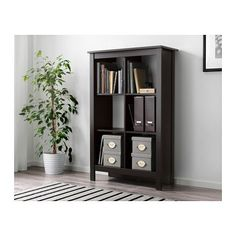 TOMNÄS Shelving unit - black-brown - IKEA
