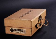 Eco-Friendly Folding Packaging  Timberland Earthkeepers Shoebox Encourages Reuse
