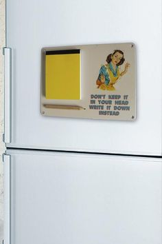 Write it down  - Fridge Memo Pad - The Retro Emporium