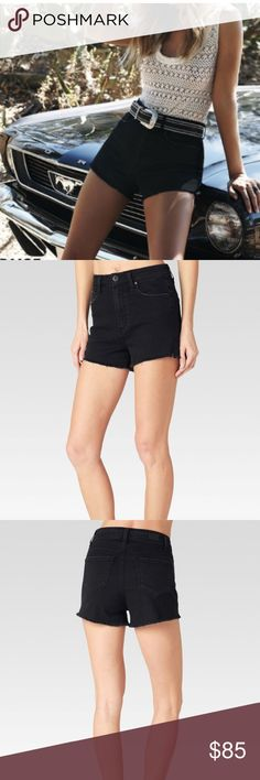 "NWT Paige denim shorts NWT Paige denim Margot shorts in vintage black.  Size 27/4.  Button & fly closure.  Front rise 11 7/8, inseam 2 3/4"", leg opening 24"". 9.7 oz fabric.  98% cotton, 2% elastane.  Pet/smoke free home PAIGE Shorts Jean Shorts"