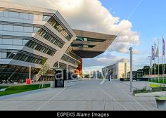 New campus of Vienna University of Economics and Business (WU Wien) was opened in 2009 in Prater area, Vienna, Austria Stock Photo