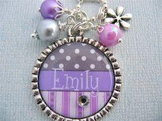 CHILDREN'S Jewelry Personalized Purple Bottle by MyBlueSnowflake, $18.50