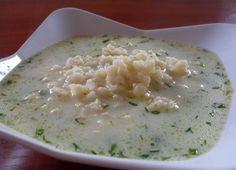 Delicious soup with dill