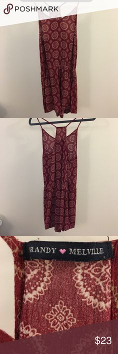 7e4f40f950 Brandy Melville Boho Romper Dress Brandy Melville Romper Dress in Boho Red! Size  XS