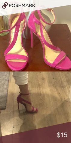 """Flirty heels worn at a colorful wedding Bright pink shoes provide the perfect """"pop"""" to any outfit. Was able to dance the night away in my size 7 feet. Only worn one time in Key West. Jessica Simpson Shoes Heels"""