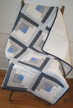 Easy log cabin quilt