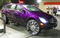 "Candy Purple Mercedes-Benz R350 on 30"" Asantis"