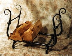 Hand Forged Wood Stacker - Black Mountain Iron