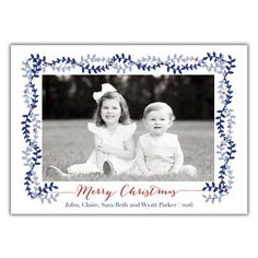Christmas Vines Photo Card from Brown Paper Studios New Year Greeting Cards, New Year Greetings, Christmas Photo Cards, Christmas Photos, Very Merry Christmas, Print Packaging, Holiday Festival, Diy Cards, White Envelopes