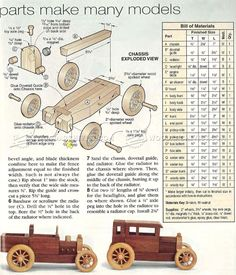 #2865 Wooden Toy Car Plans - Wooden Toy Plans