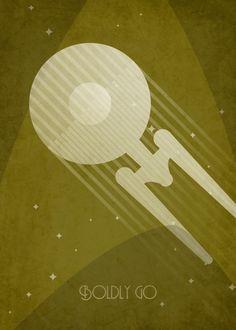 Star+Trek+TV+series+and+movie+inspired+art+deco+poster