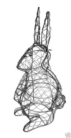 Rabbit Metal Wire Topiary Frame