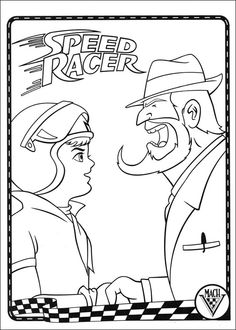 Dibujos para Colorear Speed Racer 9