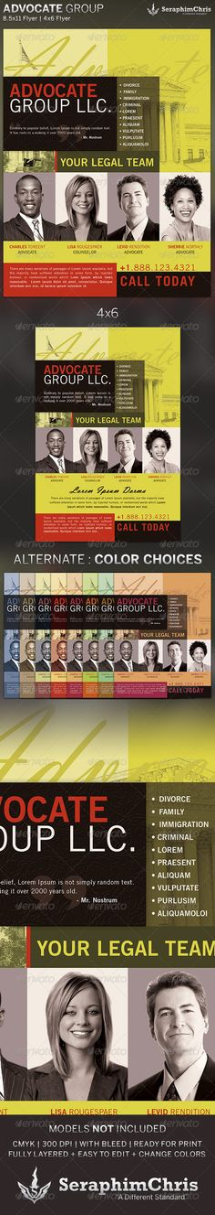 This Advocate Group: Flyer Template is customized for Law Firms and private practices. This design can also be used for multiple purposes.