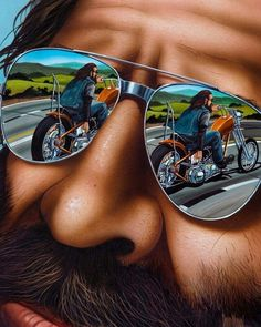It's not But we wanted to post this anyways. We are crazy like that sometimes. Motorcycle Art, Bike Art, Harley Davidson Kunst, David Mann Art, Hd Vintage, 3 Bmw, Motos Harley, Drawn Art, Easy Rider