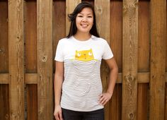 M!aw girly t-shirt: Print by Wacharapong for Threadless ($24.00) #cat #tshirt #threadless