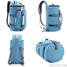 Cool Cylindrical Camo Canvas Backpack Messenger Bag Travel Bag