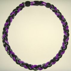 """20"""" Titanium Tornado Baseball Necklace Purple/Black * This is an Amazon Affiliate link. You can get more details by clicking on the image."""